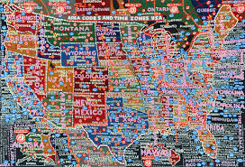 Map Of Time Zones by Paula Scher U0027s Hand Painted Semi Accurate Maps Of America Citylab