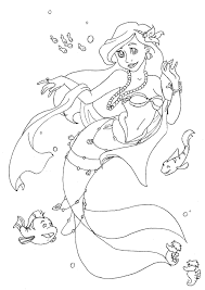 ariel coloring pages coloring kids