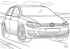 volkswagen golf coloring page free printable coloring pages