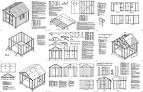 How To Build A Shed Plans For Free by 10 U0027 X 10 U0027 Gable Storage Shed Project Plans Design 21010