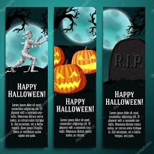 halloween banners set of halloween banners with mummy jack o lantern pumpkins