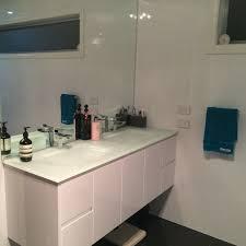Glass Vanity Tops White Bowl Glass Vanity Top 1800mm Highgrove Bathrooms