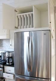 top of fridge storage inspiring kitchen cabinet organization ideas designer trapped
