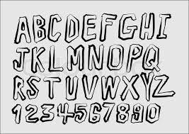 sketch alphabet handwritten font set a new compilation of free