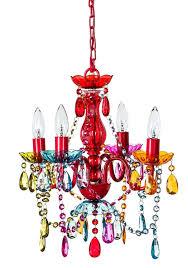 multi colored light fixture mallori multi color acrylic crystal boho gypsy chandelier in 3 sizes