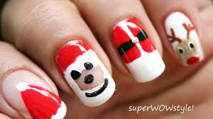 no tools santa nail designs christmas nail art tutorial