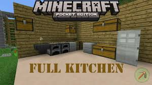 how to make a full kitchen minecraft pocket edition youtube