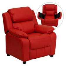 Youth Recliner Chairs Kids Children Toddlers Upholstered Leather Fabric Recliner