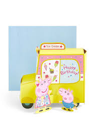 Peppa Pig Sofa by Pop Up Peppa Pig Ice Cream Van Birthday Card M U0026s