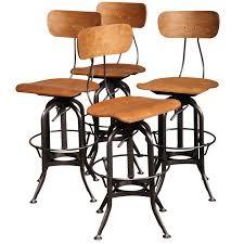 Steampunk Bar Stools Set Of 4 Original Vintage Industrial Toledo Bar Stools At 1stdibs
