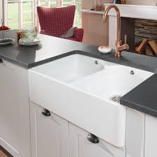 White Kitchen Faucet by Sinks Black Ceramic Countertop And Copper Single Handle Kitchen