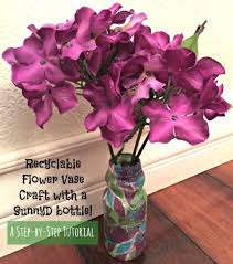 recyclable flower vase craft step by step tutorial with pictures