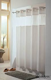 Hookless Shower Curtains Shower Curtains Rods View From The Top Hookless Shower Curtain