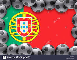 Portugal Football Flag Flag Of Portugal Football Soccer Stock Photo Royalty Free Image