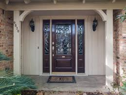 contemporary front door with sidelites hanging curtain for front