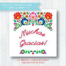 bridal shower favor tags mexican bridal shower favor tag baby shower favor tags
