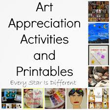 art appreciation activities and printables for kids klp linky