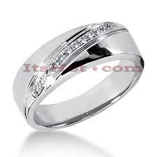 mens white gold wedding band 14k gold men s diamond wedding band 0 12ct