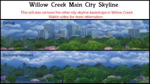 city backdrop mod the sims city skyline backdrop remover overwrite