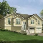 split level front porch designs porch split level house shallow pitch often home building plans