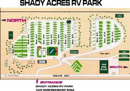 Tennessee Road Map by Shady Acres Rv Park 5 Photos Lebanon Tn Roverpass
