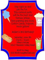 birthday invites astonishing carnival birthday invitations