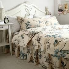 new european flower bird print bedding set pastoral duvet cover