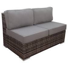 grey weston outdoor wicker loveseat at home at home