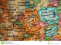 Central Europe Map by Globe Map Of Central Europe Stock Photography Image 7376712