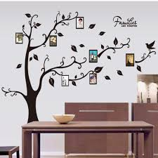 Home Decor Photo Frames Large Size Black Family Photo Frames Tree Wall Stickers Diy Home