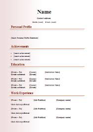 Resume Online Free Download by Cv Templates 18 Free Word Downloads Cv Writing Tips Cv Plaza