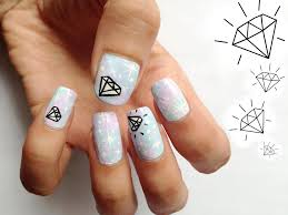 creating the diamond nail designs nail laque and design ideas