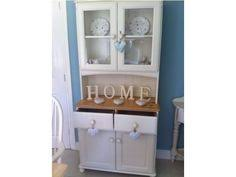 shabby chic pine dresser sideboard cupboard painted laura ashley