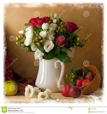 Beautiful Flowers Beautiful Flower Bouquet With Fruits Stock Photography Image