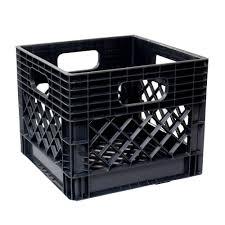 Home Depot Office Georgia Gsc Technologies 11 In X 13 In X 13 In Black Milk Crate
