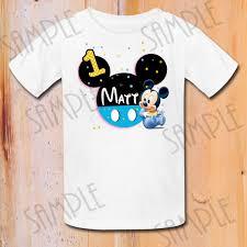 mickey mouse 1st birthday shirt disney ba mickey mouse iron on transfer custom birthday baby