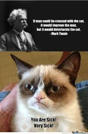 Mark Twain Memes - mark twain man and cat by douglasdegraw meme center