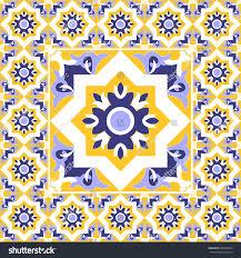 Tile Floor In Spanish by Tiles Floor Vintage Pattern Vector Ceramic Stock Vector 480968599