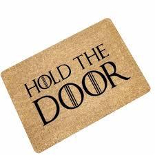 doormat funny mdct funny doormats hold the door entrance welcome mats rubber back