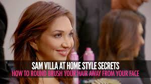 feathered brush back hair how to round brush your hair away from your face blow drying