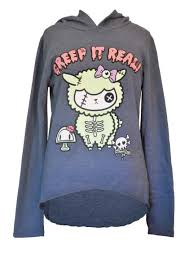 newbreed creep it real hoodie free gifts alpacas and mushrooms
