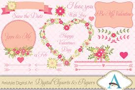 stylish printables watercolor clipart wedding stationery
