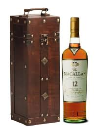 Scotch Gift Basket Macallan 12 Year Whisky In Wooden Chest