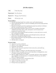Warehouse Supervisor Resume Cover Letter Warehouse Stocker Job Description Warehouse Stock