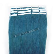 8 Inch Human Hair Extensions by 18 Inch Blue Tape In Human Hair Extensions 20pcs