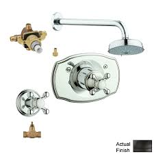 Grohe Shower Valves Shop Grohe Geneva Oil Rubbed Bronze 2 Handle Shower Faucet With