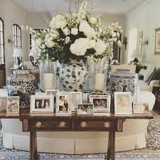 side table styling vignette glam picture display white