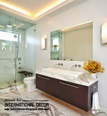 Ceiling Ideas For Bathroom Contemporary Bathroom Lights And Lighting Ideas
