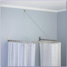 Ceiling Mount For Shower Curtain Rail Oval Shower Curtain Rod Ceiling Mount Curtain Home Design
