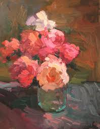 Glass Vase Painting Kathryn Townsend Painting Studio Roses In Glass Vase Sold